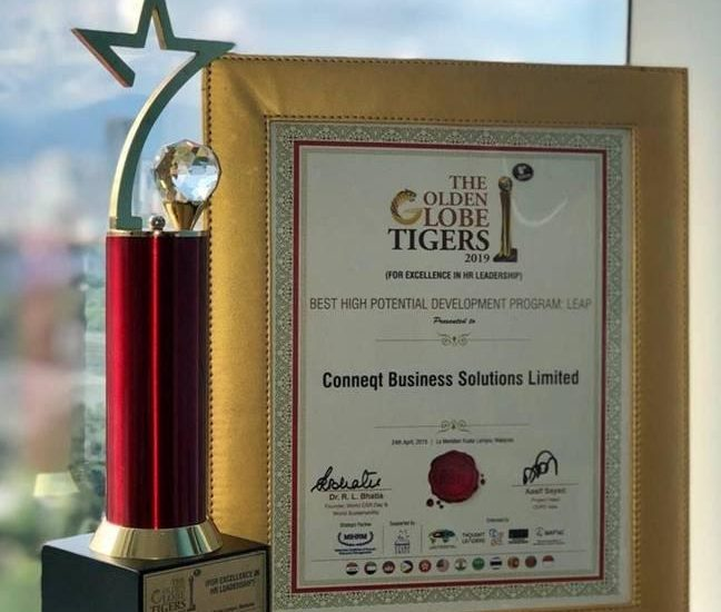 Conneqt is honored to win the Best High Potential Development Program – LEAP @ Golden Globe Tigers Award 2019.